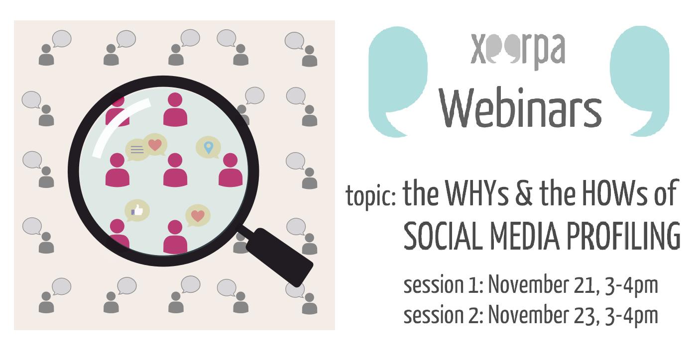 webinar, social media profiling