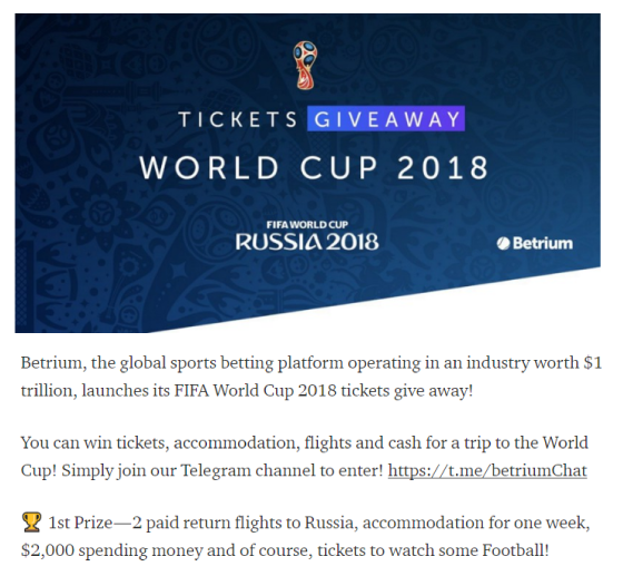 World Cup Marketing - Betrium