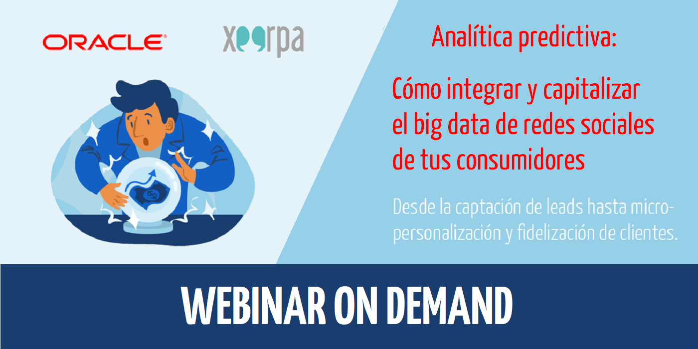 Webinar con Oracle: Analítica Predictiva